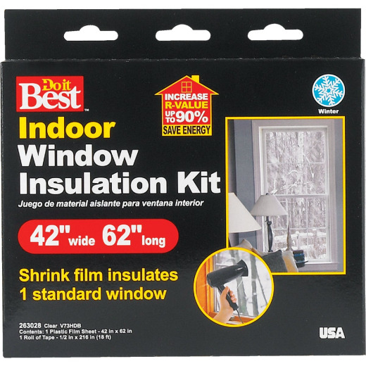 Do it Best 42 In. x 62 In. Indoor Shrink Film Window Kit