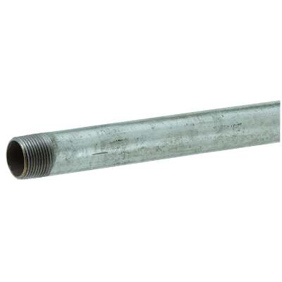 Southland 1-1/4 In. x 48 In. Carbon Steel Threaded Galvanized Pipe