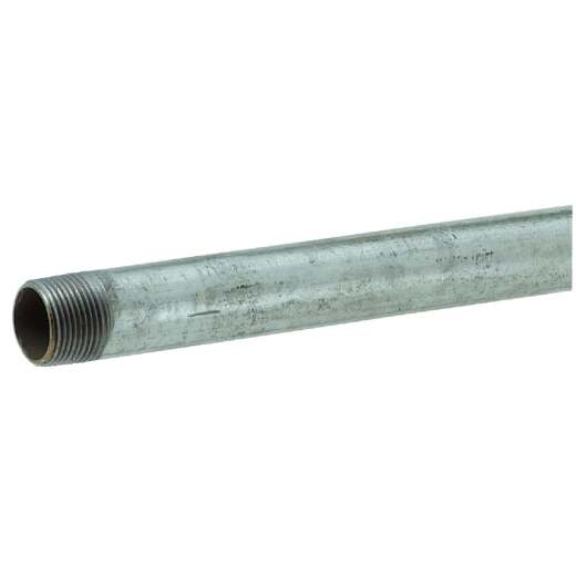 Southland 1-1/2 In. x 48 In. Carbon Steel Threaded Galvanized Pipe