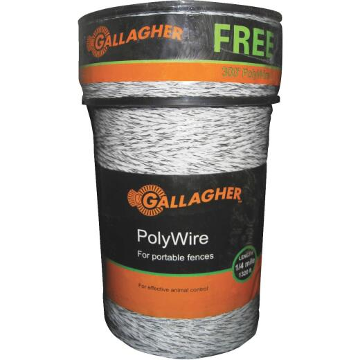 Gallagher 1620 Ft. Polyethylene w/Stainless Steel Wire Strands Electric Fence Poly Wire