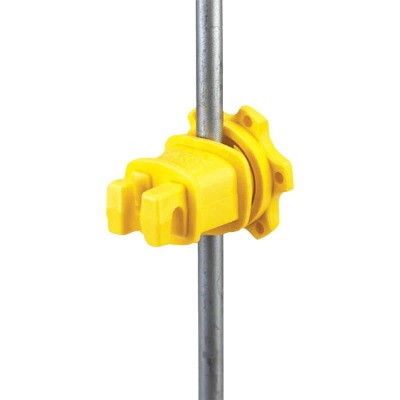 Dare Screw-On Yellow Polythylene Electric Fence Insulator (25-Pack)