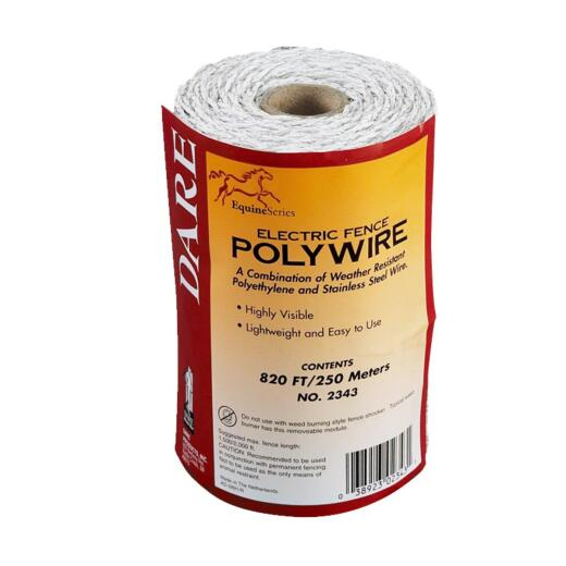 Dare 820 Ft. Polyethylene w/Stainless Steel Strands Electric Fence Poly Wire