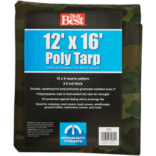 Do it Best Camo Woven 12 Ft. x 16 Ft. Medium Duty Poly Tarp