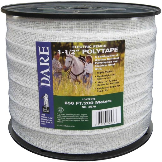 Dare 1-1/2 In. x 656 Ft. Polyethylene Electric Fence Poly Tape