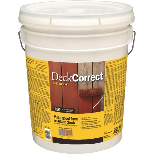 Cabot DeckCorrect Tint Base Wood Deck Resurfacer, 5 Gal.