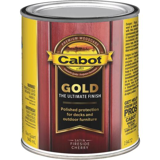 Cabot Gold Low VOC Exterior Stain, Fireside Cherry, 1 Qt.