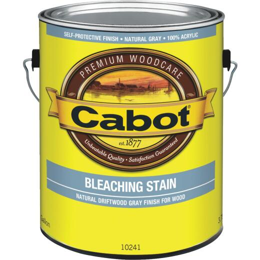 Cabot Weathered Look Exterior Bleaching Stain, Natural Driftwood Gray, 1 Gal.