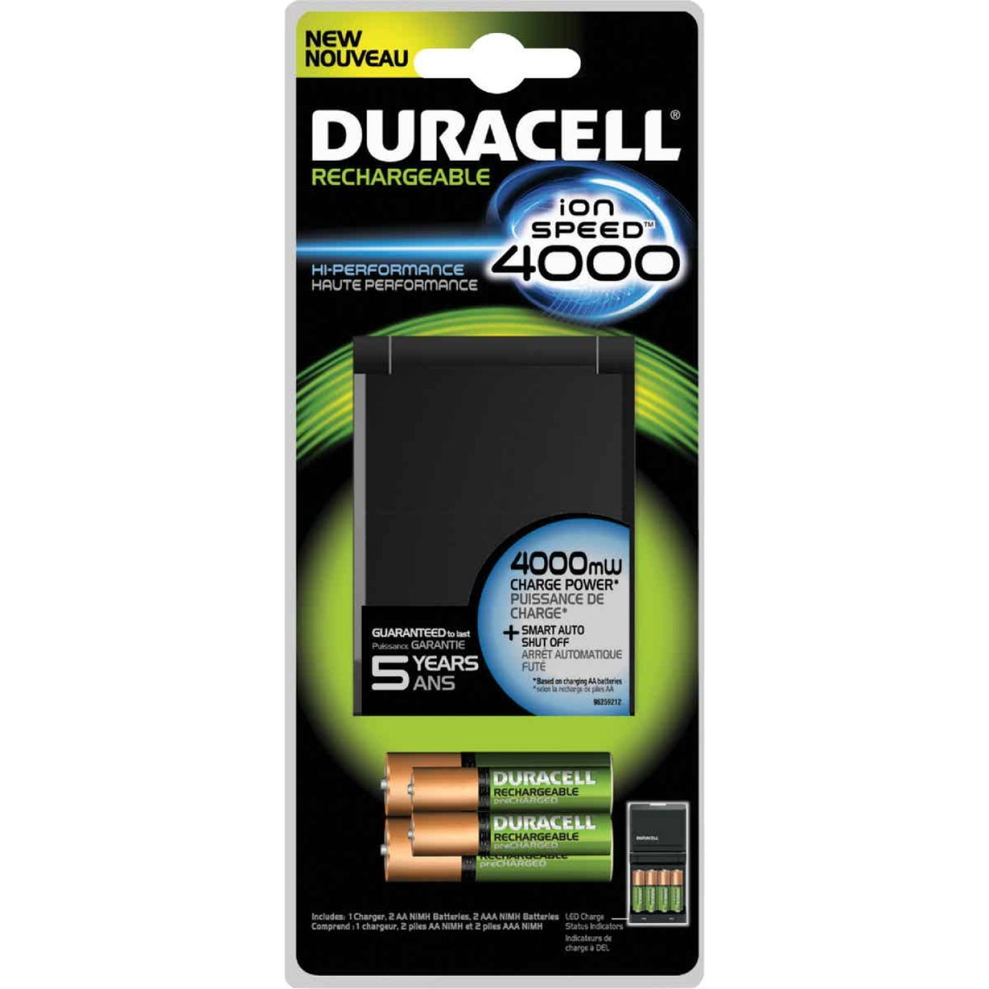 Duracell Ion Speed 4000 AA & AAA Ion Core NiMH Battery Charger Image 1