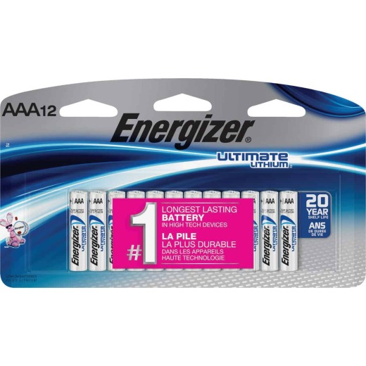 Energizer AAA Ultimate Lithium Battery (12-Pack)