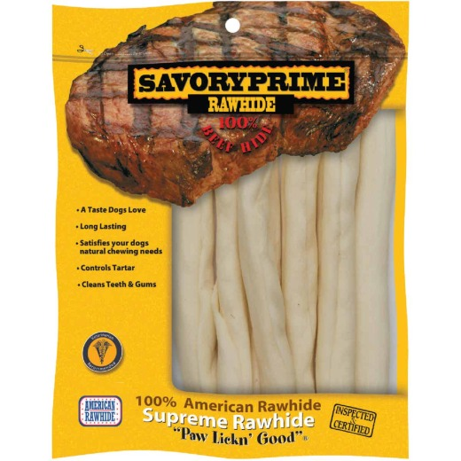 Savory Prime Natural Stick 9 In. to 10 In. Rawhide Chew