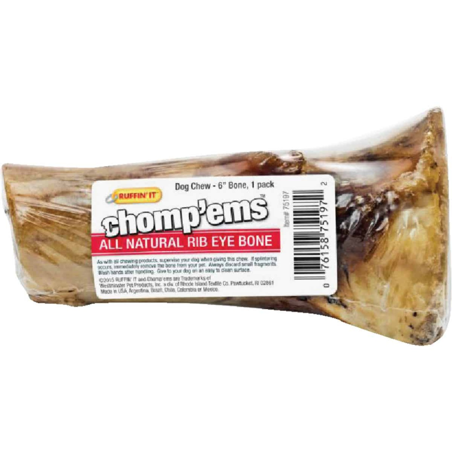 Westminster Pet 6 In. Smoked Beef Chew Bone Image 1