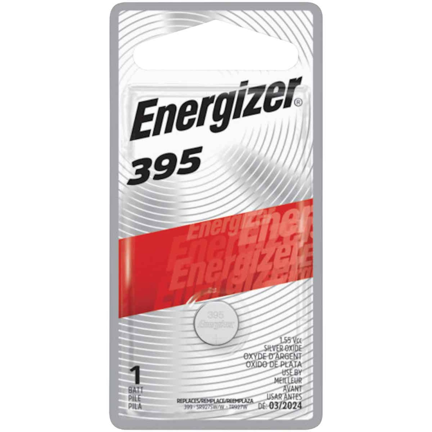 Energizer 395 Silver Oxide Button Cell Battery Image 1