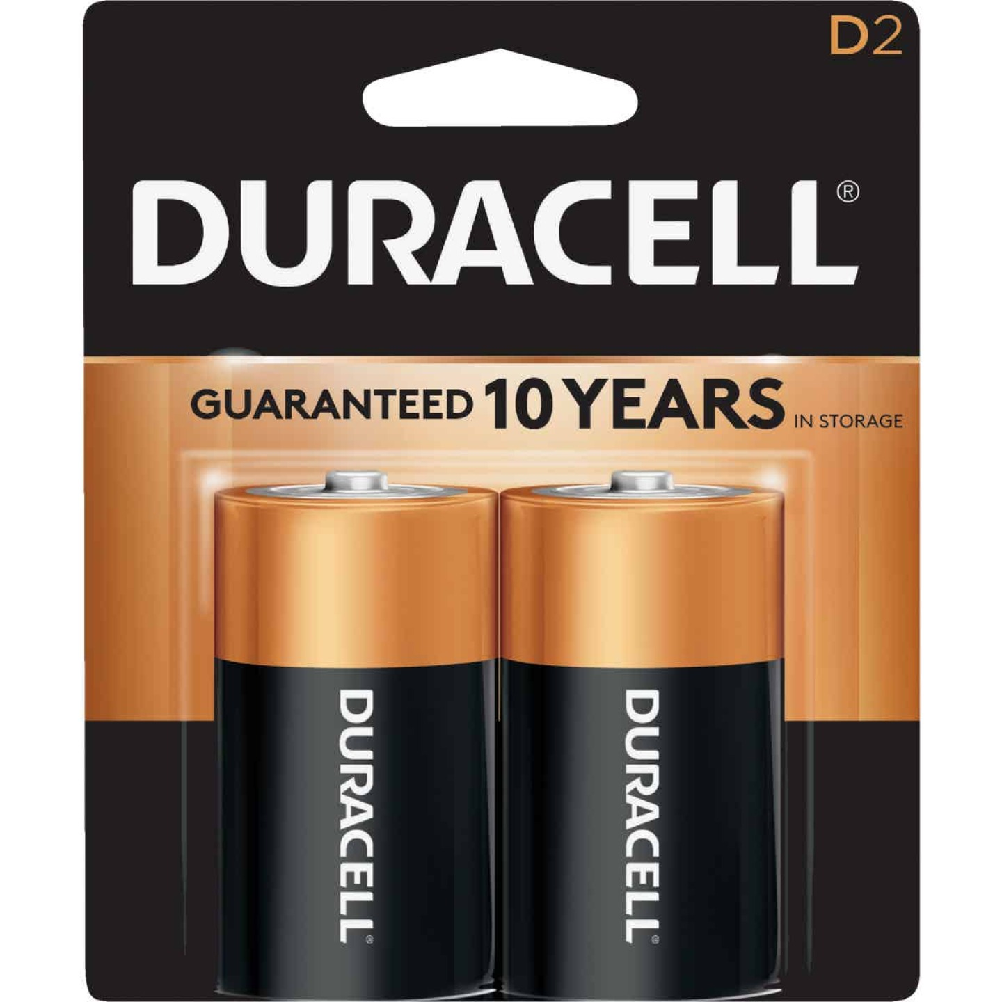 Duracell CopperTop D Alkaline Battery (2-Pack) Image 1