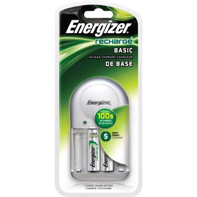 Energizer Recharge (2) or (4) AA, or AAA NiMH Value Battery Charger