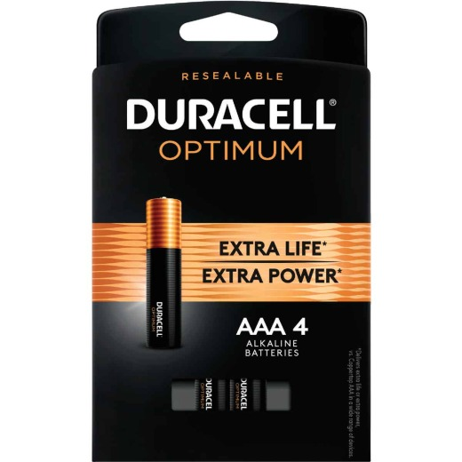 Duracell Optimum AAA Alkaline Battery (4-Pack)