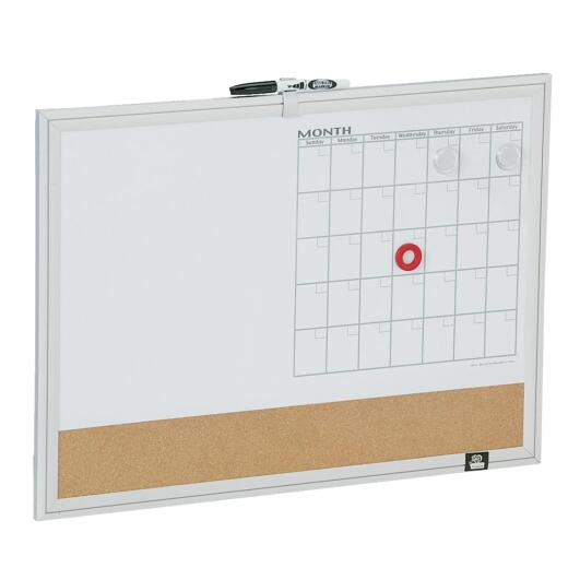 The Board Dudes 17 In. x 23 In. 3-in-1 Magnetic Dry-Erase Board